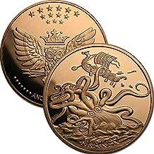 1 oz .999 Pure Copper Round/Challenge Coin (Kraken)