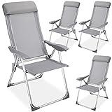 Chaise Camping Pliante avec Coussin Aluminium Meuble Chaises Pliantes exterieure Jardin (Lot de 4)