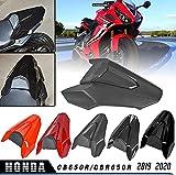 LoraBaber Asiento de la motocicleta Cubierta del asiento trasero Capucha Solo Asiento Capucha Para CB650R 2019 2020 CBR650R CB650R CB 650r CBR 650R (Negro)