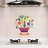 100g transparent pattern self-adhesive waterproof stickers fume wall stickers stickers stove high temperature oil-proof stickers kitchen tile oil-proof waterproof stickers