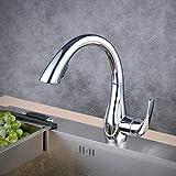 Beelee Chrom Wasserhahn Küche 360° schwenkbarer Küchenarmatur Hoher Auslauf Spültischarmatur...