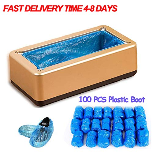 Automatic Shoe Covers Machine,Shoe Covers Dispenser with 100 Pack Plastic Boot,for Household,Office