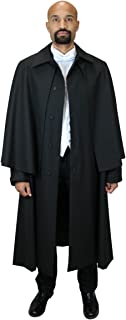 Historical Emporium Men's Wool Blend Inverness Dress Coat