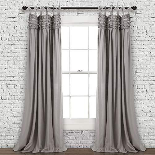 Lush Decor Window Curtain Panel Pair, Gray, 84' x 40'