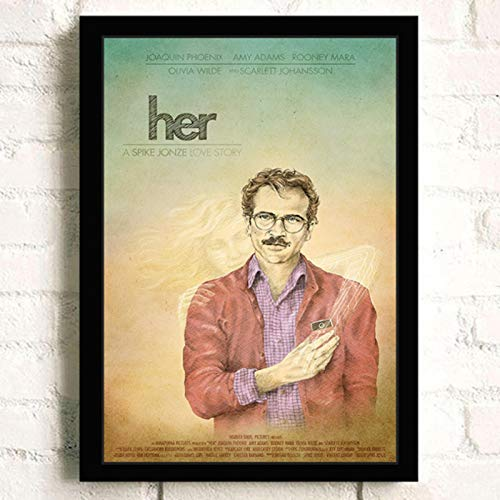 lubenwei Her Joaquin Phoenix Classic Movie Wall Art Home Decor Canvas Painting Art Nordic Decoration Bar Cafe Room Poster 40x60cm No frame (WA-2296)