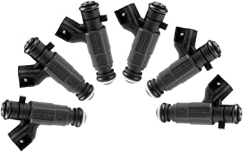 ROADFAR 4 Holes Fuel Injector Kits fit for 2005 2006 2007 2008 Buick LaCrosse,2004 2005 2006 Buick Rendezvous,2004 2005 2006 2007 2008 Cadillac SRX/CTS,2005 2006 2007 Cadillac STS 0280156131,Pack of 6