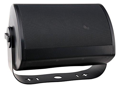 Pronomic OLS-10 BK DJ PA Outdoor luidspreker voor tuin, terras, restaurant, 100 watt, beschermingsklasse IP56, 8 ohm, 13,2 cm (5,2 inch) woofer, Planar Bass Radiator) zwart