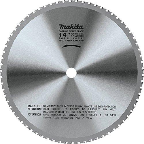 Makita A-97592 14' (70T) Carbide-Tipped Metal Cutting Blade, Ferrous Metal,