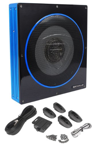 Rockville RW10CA 10' 800 Watt Slim Low Profile Active Powered Car Subwoofer Sub Review