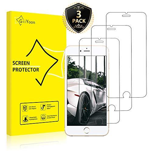 GiiYoon-3 Piezas Protector de Pantalla para iPhone 6/6s Plus Cristal Templado,[Sin Burbujas] [Alta Definicion] [9H Dureza] Vidrio Templado HD Protector Pantalla para iPhone (5.5