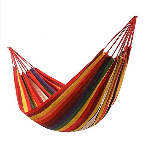 Gifftiy Hangmat zonder standaard Hamacas Colgantes Russisch Magazijn Eenpersoon/Dubbele 200X150Cm Tuinschommels Outdoor Camping Hangmat Hangstoel Bed Draagbaar BLUE-STRIPE005