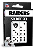MasterPieces NFL Las Vegas Raiders Dice Set, Team Colors