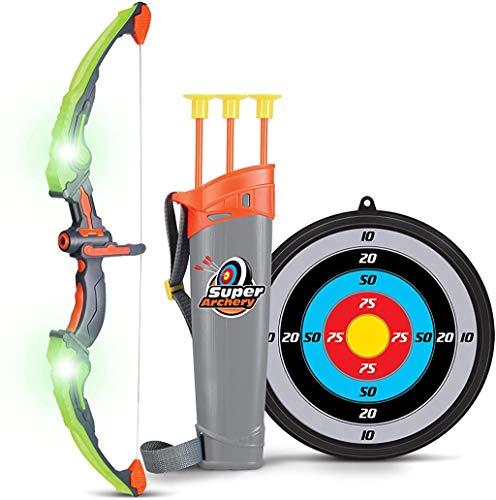 SainSmart Jr. Archery Set Pfeil und Bogen Kinder Bogenschießen Schießspiele mit 3 Pfeilen, Geschenk für Jungen ab 6 Jahre, Grün