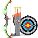 SainSmart Jr. Kids Bow and Arrow Toy, Basic Archery Set Outdoor Hunting Game with 3 Suction Cup Arrows, Target and Quiver