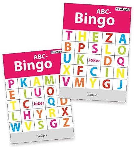 Betzold 754658 - ABC-Bingo, Deutsch-Lehrmittel Kinder Buchstaben-Verständnis Lernen Alphabet DAZ