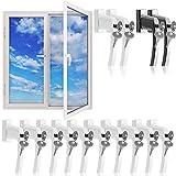 Fenstergriffe abschließbar 10x weiß Aluminium Fenstersicherheitsgriff Kindersicherung Fenstersicherung Gleiche Schlüssel