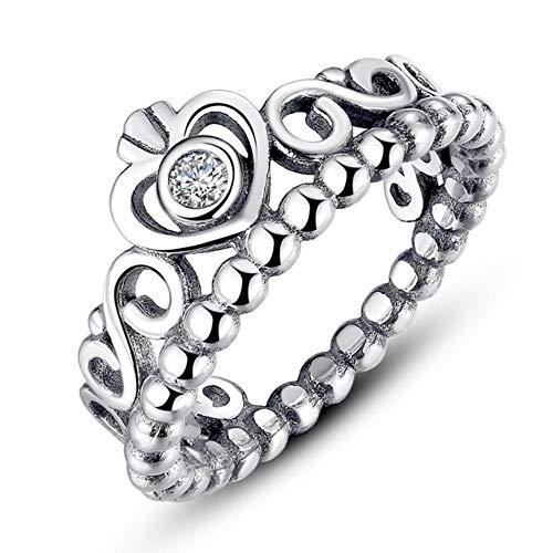 Mode Silber Farbe My Princess Queen Crown Stapelbarer Ring für Frauen Hochzeitsschmuck, PA7204,5