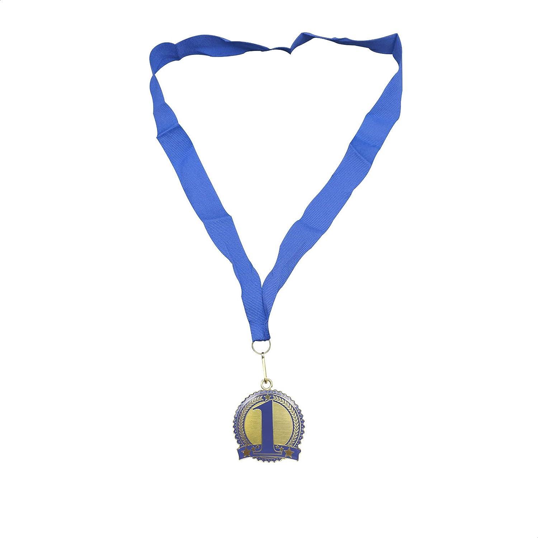 Medalla de Estrellas Dorada | Medalla para Premios | Premios para Niños| Trofeo | Medalla para Aprendizaje | 48 x 8 Centímetros|
