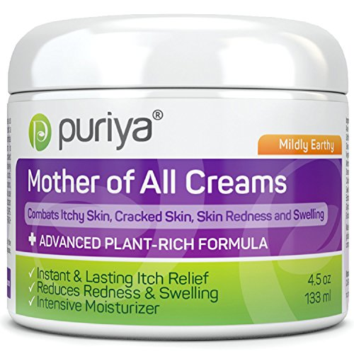 Puriya Intensive Moisturizing Cream for Dry, Itchy and Sensitive Skin, Hand and Foot, Mother of All Creams for Soothing Care of Skin Redness and Rash, Plant Rich Formula with Mildly Earthy Scent