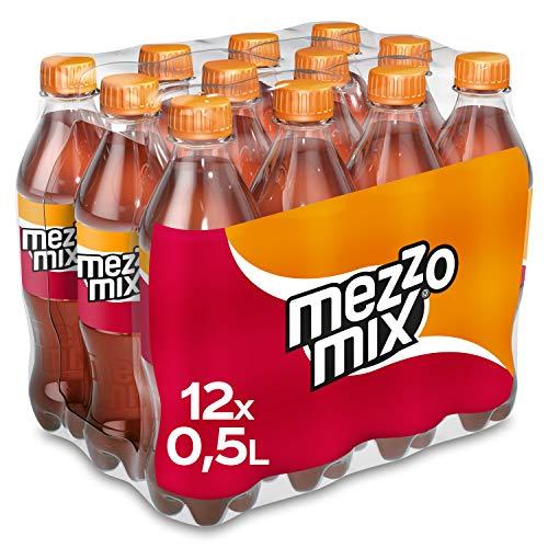 Mezzo Mix, Einzigartiges Mischgetränk aus Cola & Orange in praktischen Flaschen, EINWEG Flasche (12 x 500 ml)