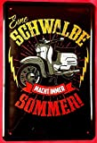 Froy Simson Schwalbe DDR Roller Kult Moped Wand Blechschild