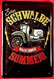 Froy Simson Schwalbe DDR Roller Kult Moped Wand Blechschild Retro Eisen Poster Malerei Plaque Blech Vintage Personalisierte Kunst Kreativität Dekoration...