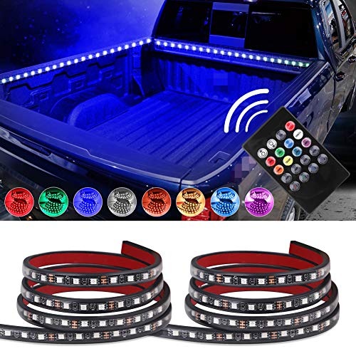 "VANJING 2PCS 60"" RGB LED Truck Bed Light Strip Kit with Sound-Activated..."
