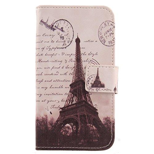 Lankashi PU Flip Leder Tasche Hülle Hülle Cover Schutz Handy Etui Skin Für Doogee Voyager2 Dg310 Stamp Tower Design