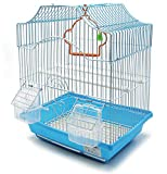 BPS Jaula para Pájaro Pajarera Periquito Canarios con Comedero Bebedero Saltado Perchas para Descanso 30x23x39 cm Color al Azar BPS-1187