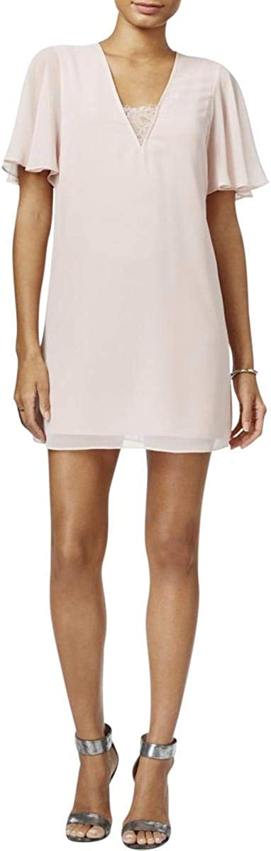 BCBGeneration Women's Mini Dress with Deep V Lace