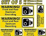 W6 Selbstklebender Vinyl-Aufkleber für Armaturenbrettkamera, Aufzeichnung der Armaturenbrettkamera, 5 Stück