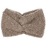 Sombreroshop Cinta para la Cabeza Mohair Wool Blend (Talla única - Beige Oscuro)