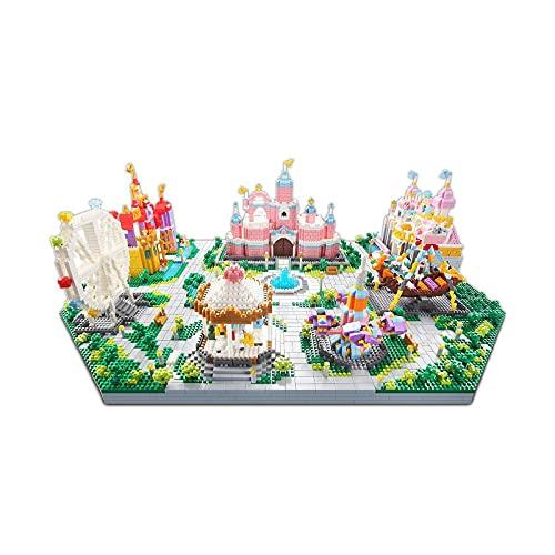 3 en 1 Fantasía Castillo Colección Modelo de Arquitectura Famosa Conjunto de Bloques de Construcción (7416 Piezas) Juguetes de Micro Mini Ladrillos Regalos para Niños y Adultos