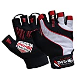 FARABI Easy Grip Weight Lifting Gloves Gym Training Fitness Workout Bodybuilding Gloves (Red, L/XL)
