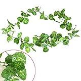 Nortongrace Hervorragende künstliche Pflanze Vine Seide Foliage Garland Wand Hängen Hochzeit Home Dekor(None D) -