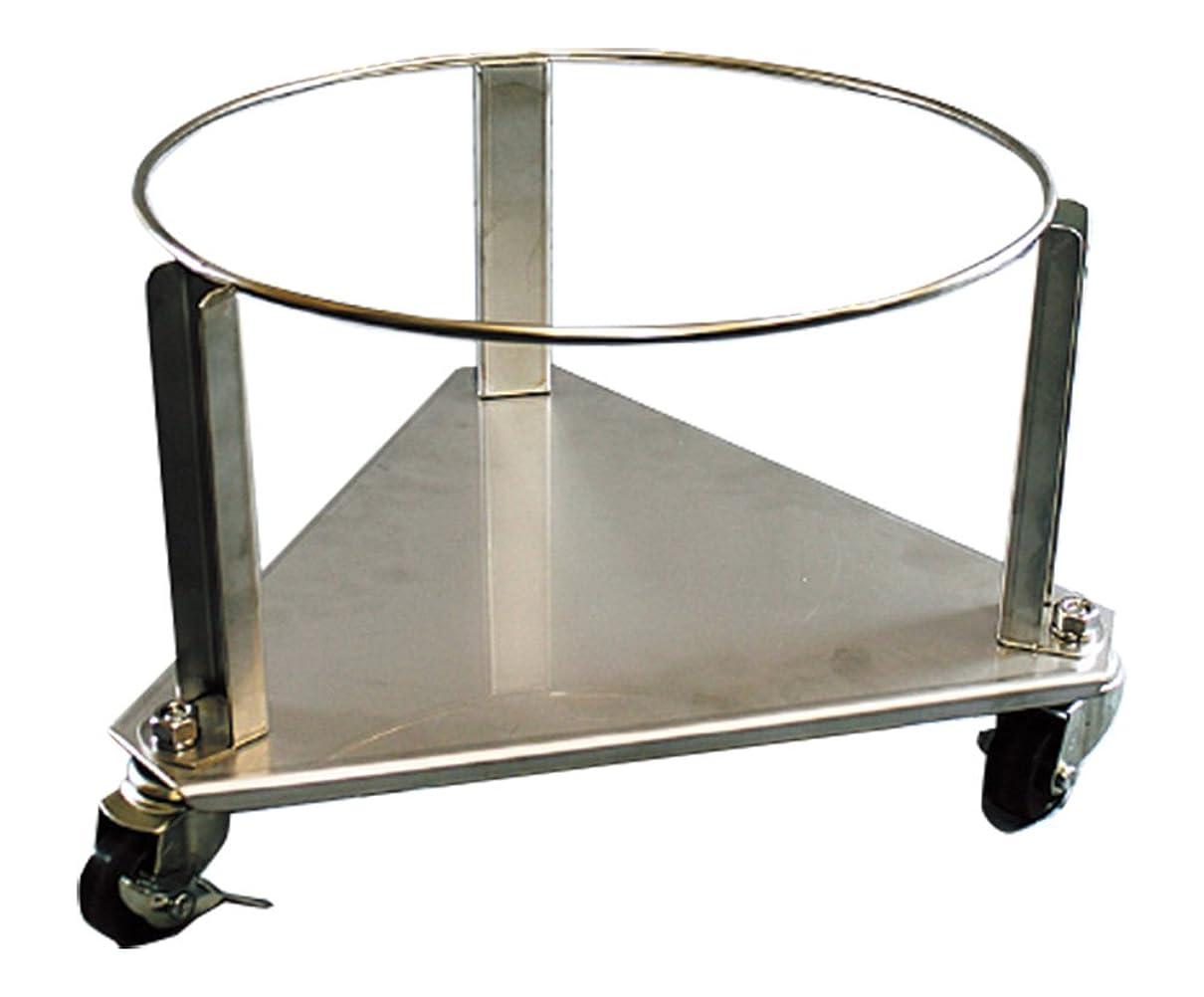 稚魚から聞く側ガード付ステンレス三角台車 ペール用 GSIC-45