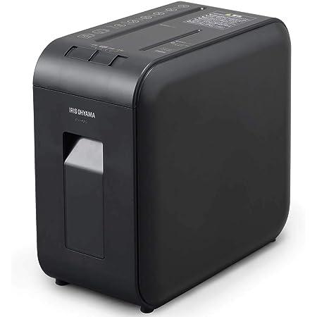 アイリスオーヤマ 静音シュレッダー 超静音 家庭用 細断枚数4枚 マイクロクロスカット 連続使用10分 CD/DVD/BD細断可能 ダストボックス7.5L A4/100枚収容 P4HMS-B ブラック