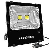 LEPOWER 100W LED Flood Light Outdoor, Work Light...