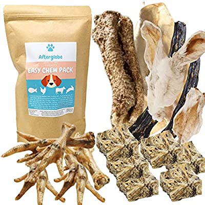 Afterglobe Easy Dog Chew Natural Treat Mix | For smaller Dogs and Older Dogs | Treat Your Pooch To Delicious Mix Of Chews