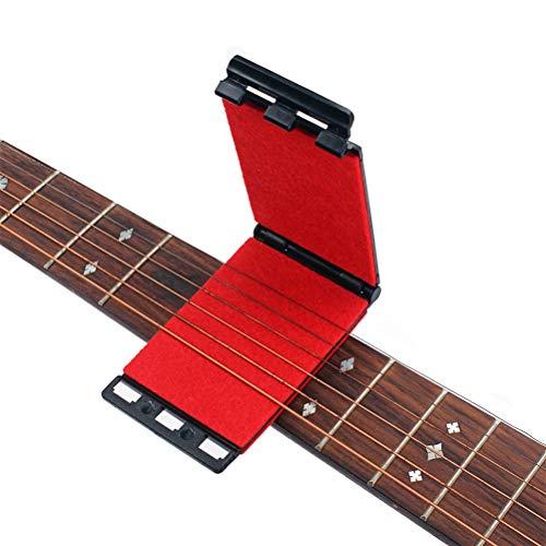 Artibetter Saitenreiniger Gitarren Saiten- und Griffbrettreiniger für elektrische und akustische Gitarren (Rot)
