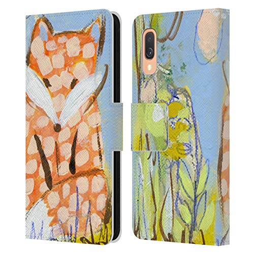 Head Case Designs Offiziell Zugelassen Wyanne Fuchs Zwischen Brombeersträuchern Tiere Leder Brieftaschen Handyhülle Hülle Huelle kompatibel mit Samsung Galaxy A40 (2019)