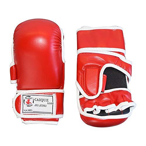Caique - Gracie Brazilian jiu-Jitsu MMA Extra Padded Training Gloves (Red, Medium)