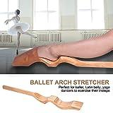 Zerone Ballet Arch Stretcher, Wooden Ballet Foot Stretch Stretcher Arch Enhancer Elastic Band Dance Gym