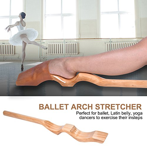 Zerone Ballett Arch Keilrahmen, Holz Ballett Fuß Stretch Keilrahmen Arch Enhancer Elastic Band Dance Gym