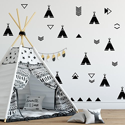 STICKER NURSERY Adhesive TeePees Decoration