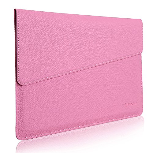 "MacBook 12 Sleeve, Evecase Sottile in Pelle Premium Custodia Portatile per 2015 Nuovo MacBook 12"" con Retina Display - Rosa"