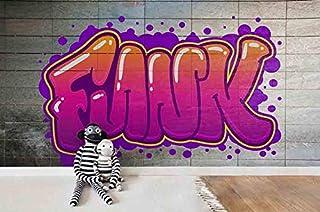 "3D Graffiti Wallpaper Wall Mural | Self Adhesive Removable Wallpaper Feature Wall Deco Photo Mural 11 SF (Premium Non-Woven Paper(Non- Pasted), 123""X 87"" (312cm X 219cm))"