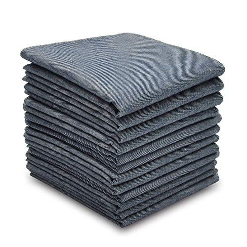 SelectedHanky Men's Pure Cotton Handkerchiefs, Grey Hankies Pack of 12