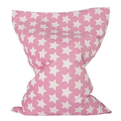 Lounge Pug®, Kinder Sitzkissen, Sitzsack, Druck Pink Star