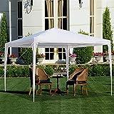 LKOPYUo Garten-Pavillonzelt, wasserdichtes Hochleistungs-Pavillon, tragbare Outdoor-Party-Zelt-Garten-Hochleistungs-Pavillon-Ereignis-Schutz mit Spiralröhren für Hochzeitsstrand Picknick (3x4m)
